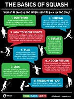 The Basics of Squash Poster