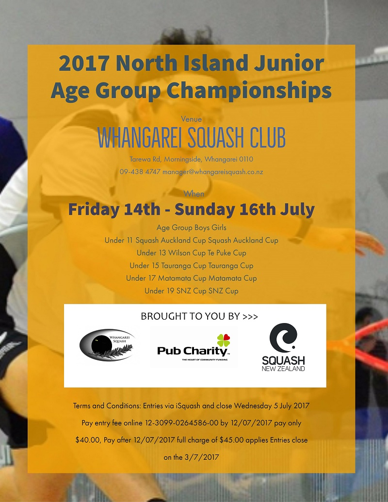 2017 North Island Junior Age Group Championships v2