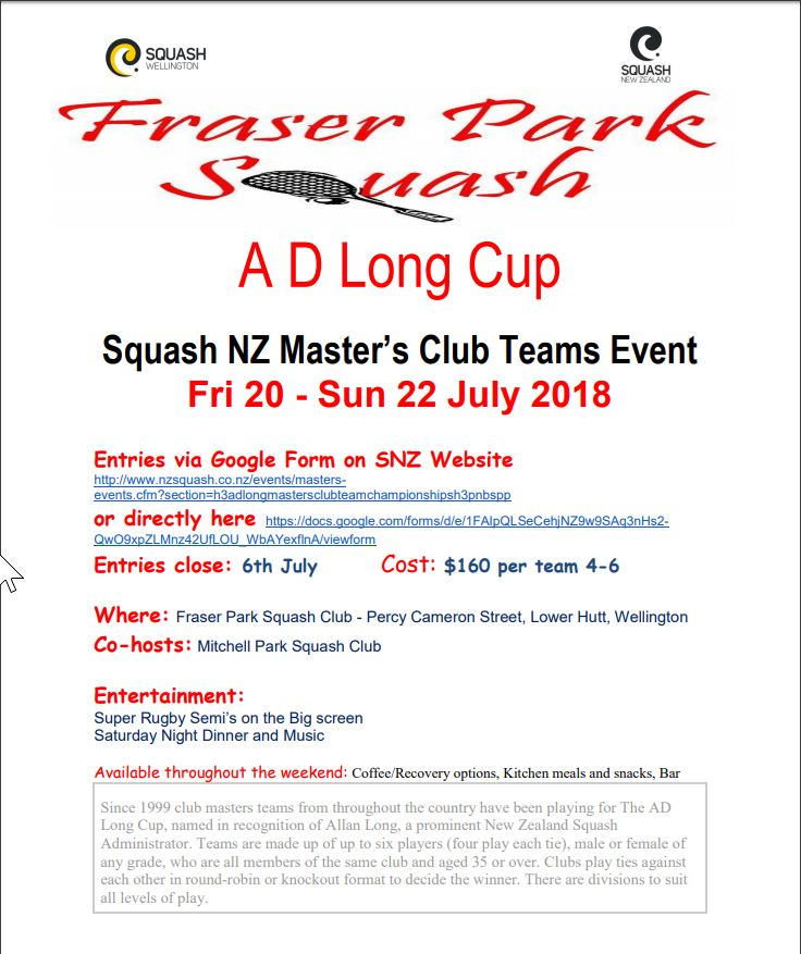 Fraser Park AD Long Cup poster