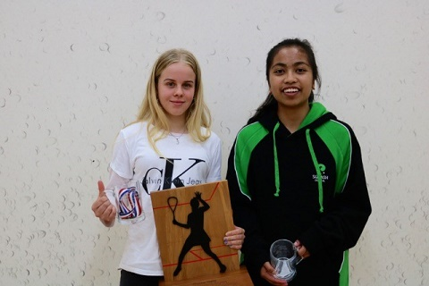 SuperChamps Womens FJ Grade Winner Jamie Mitchinson and runner up Samantha Reyes