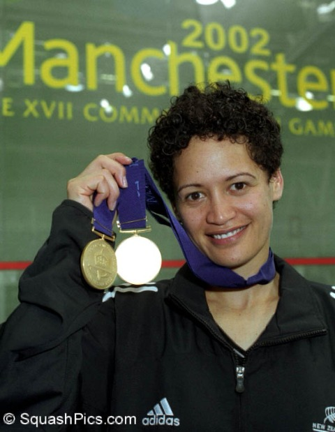 Leilani with medals 2002